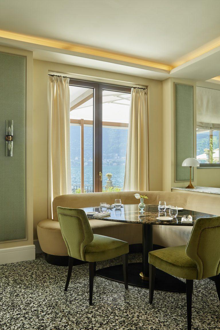 Mandarin Oriental Lake Como, L'Aria Restaurant, Interior Design Eric Egan, Photography Ricardo Labougle